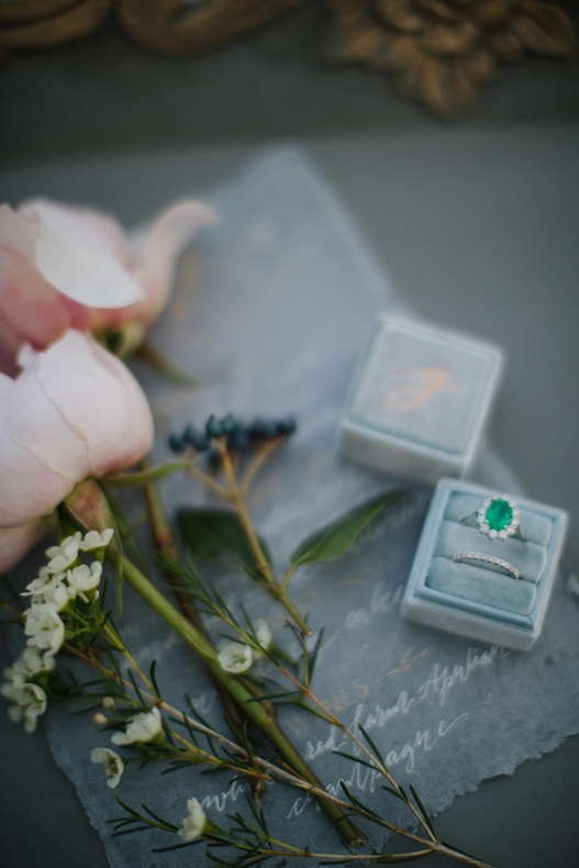 details of the winter wedding inspirational shoot