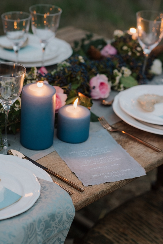 dusty blue table details-winter wedding